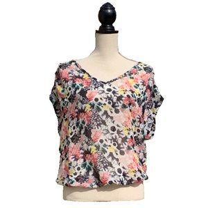 ☀️4/25 COPY - ONLY 'Boston Flower' Sheer S/S Shirt